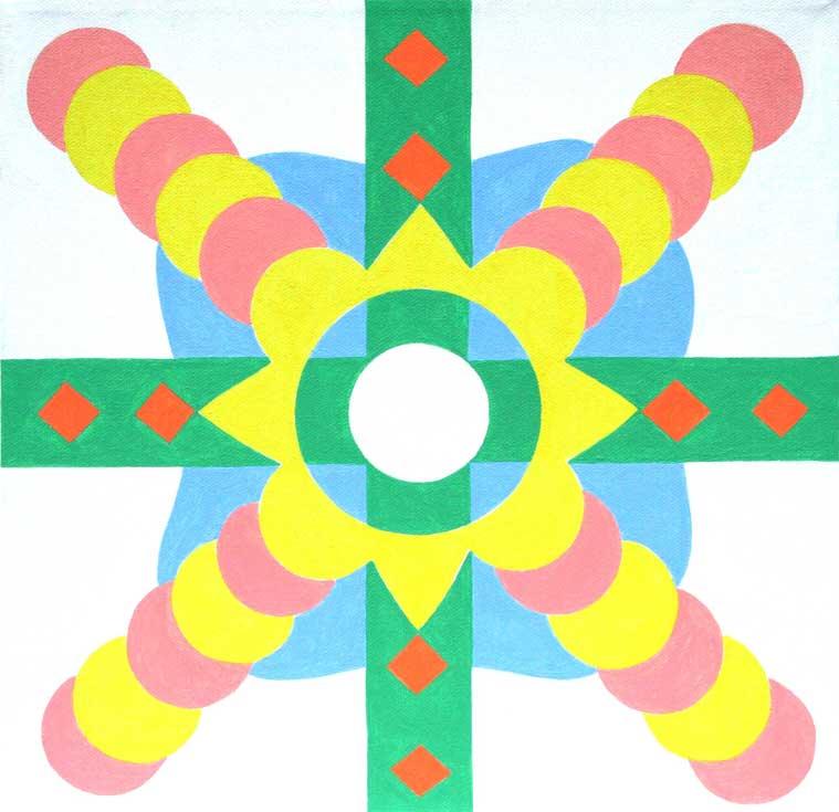 """Radiating Mandala 12"""" x 12"""""""