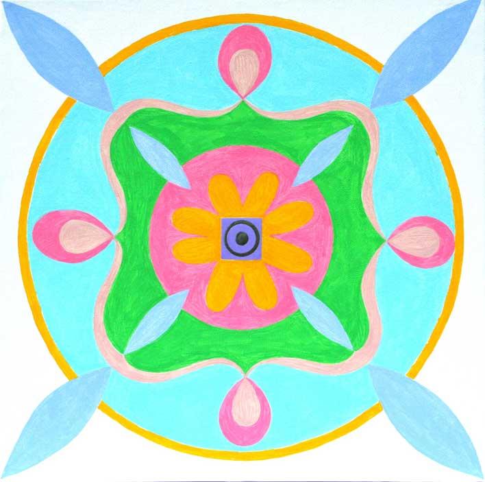 "Flower Mandala 12"" x 12"""