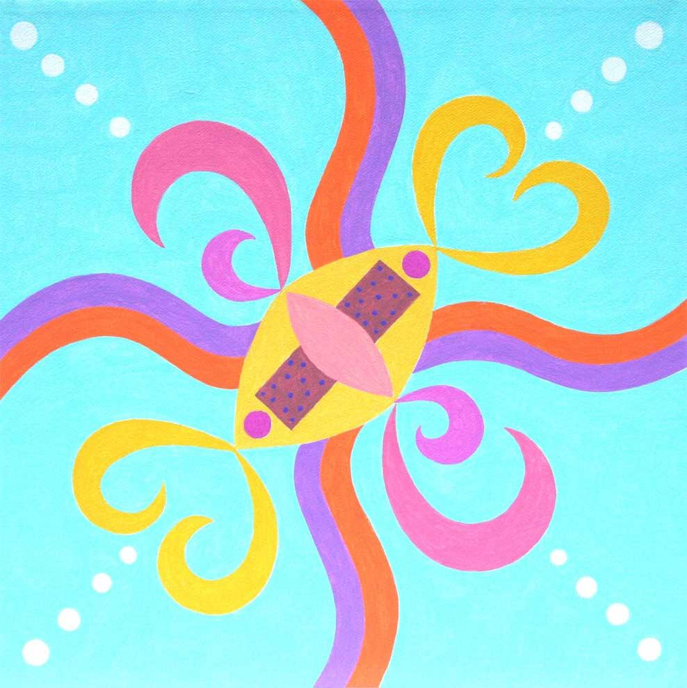 """Previous ImageSea Breeze Mandala 12"""" x 12"""""""