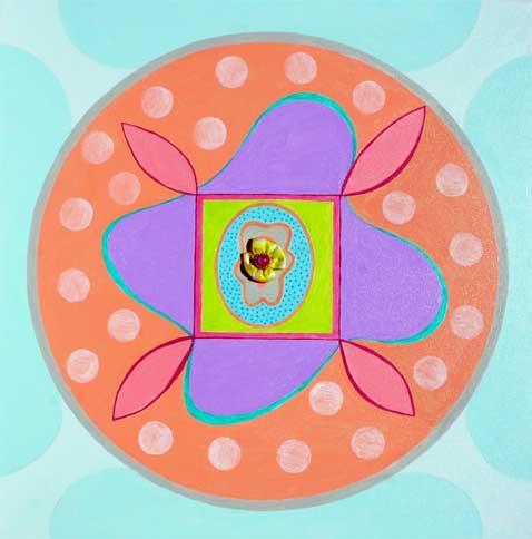 "Baby's Mandala 18"" x 18"""