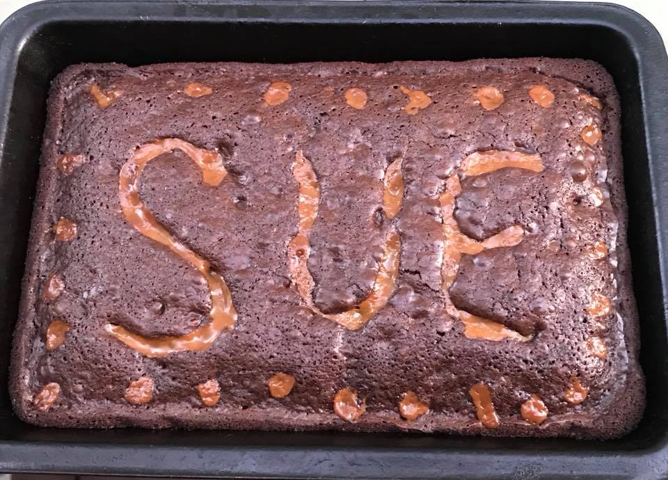 Day 33 My name in Brownies.