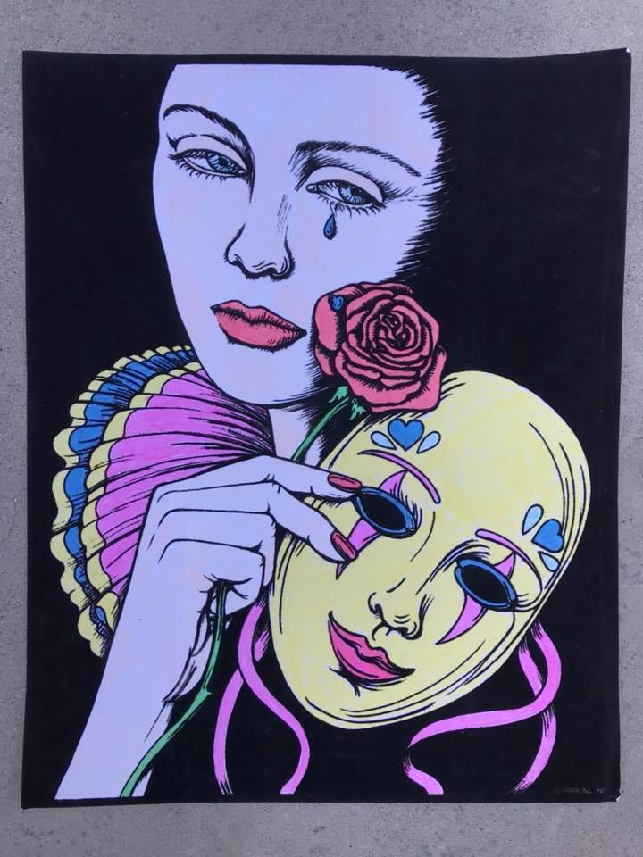 Day 47 Velvet Art Poster