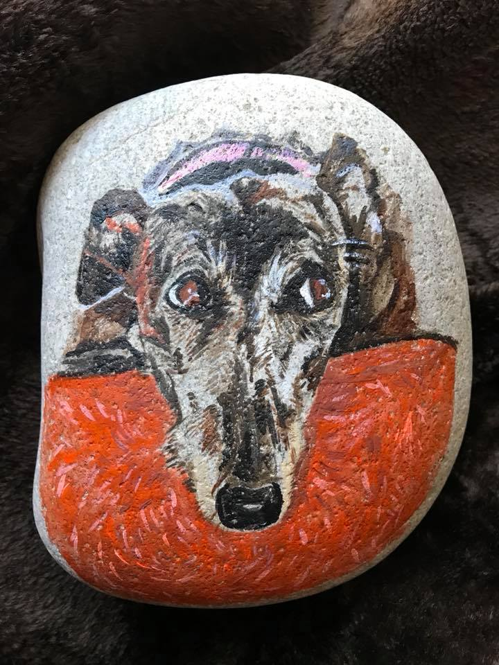 Day 56 Rock Painting. #yearofthedog #lola