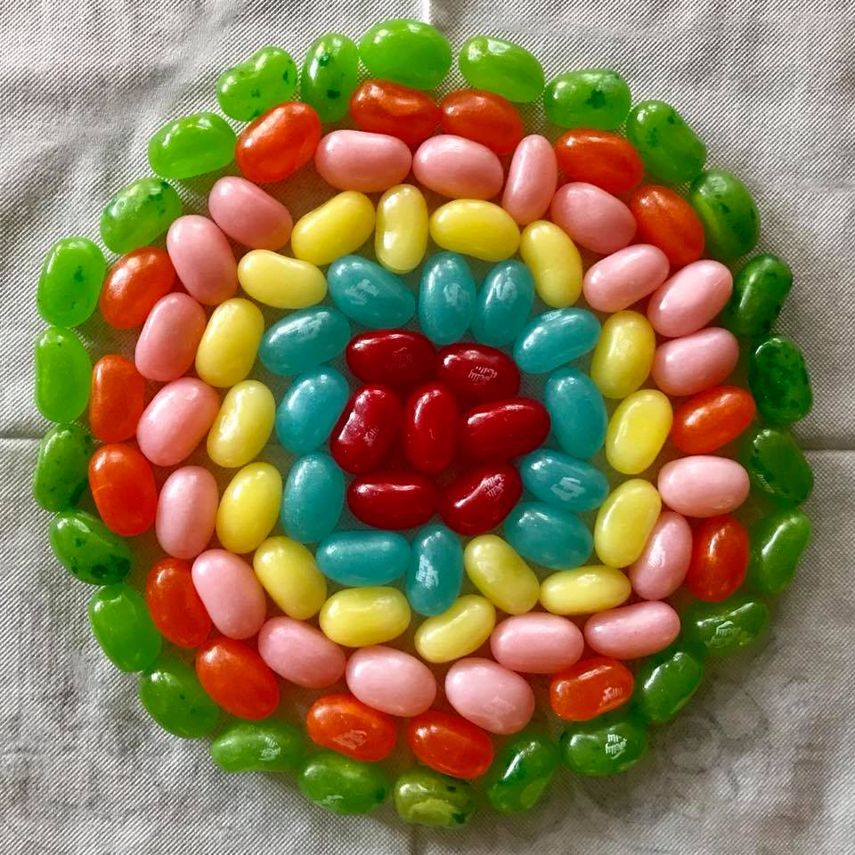 Day 86 Jelly Bean Mandala.