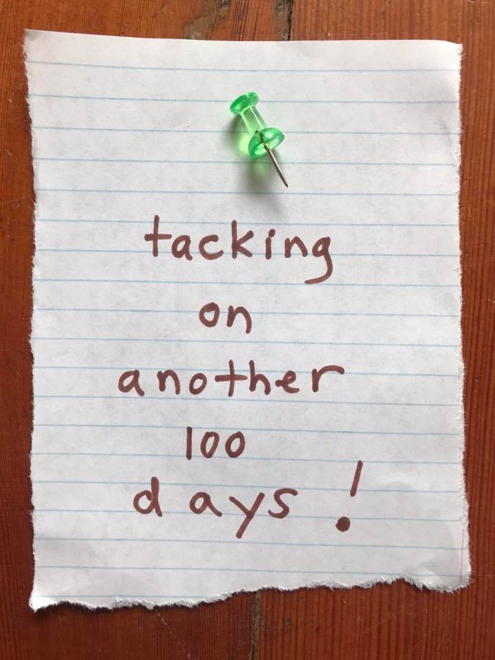 Day 100 Paper, Pen and Tack