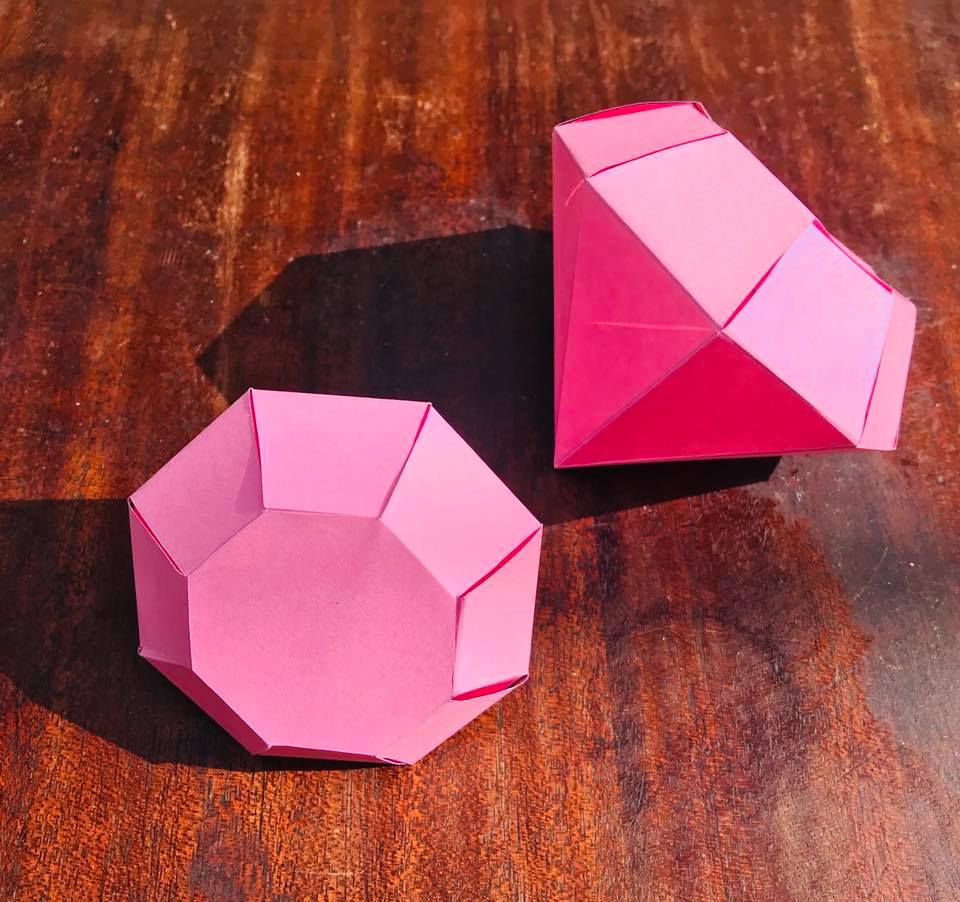 Day 166. Origami Diamonds