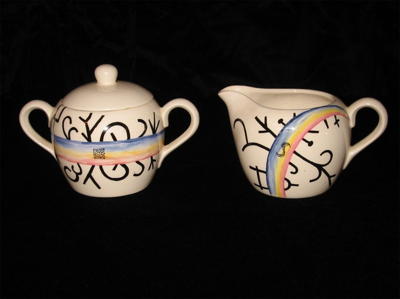 Rainbow Suger and Creamer