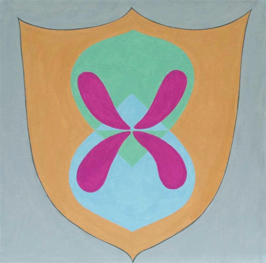 "Shield Mandala 12"" x 12"""