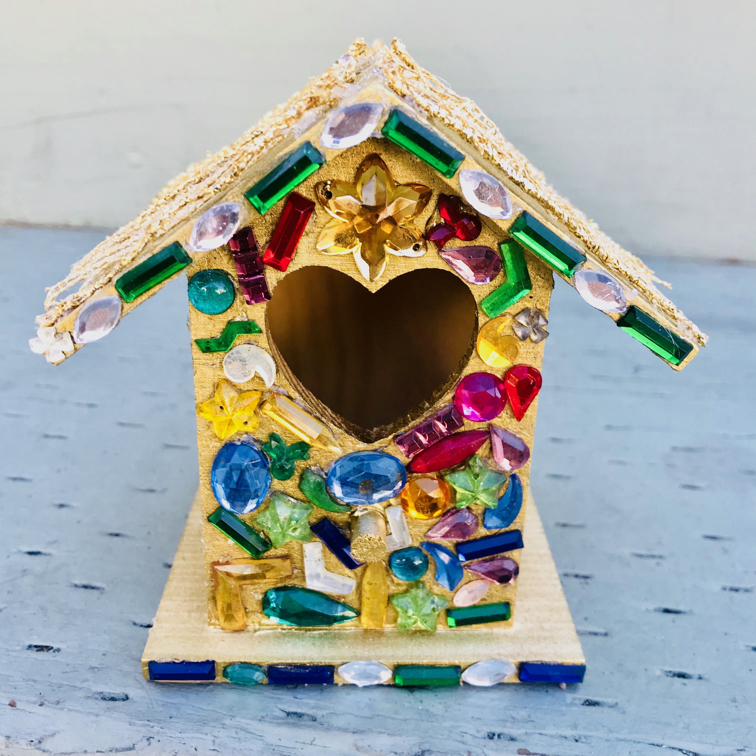 Day 283. Bedazzled Bird House