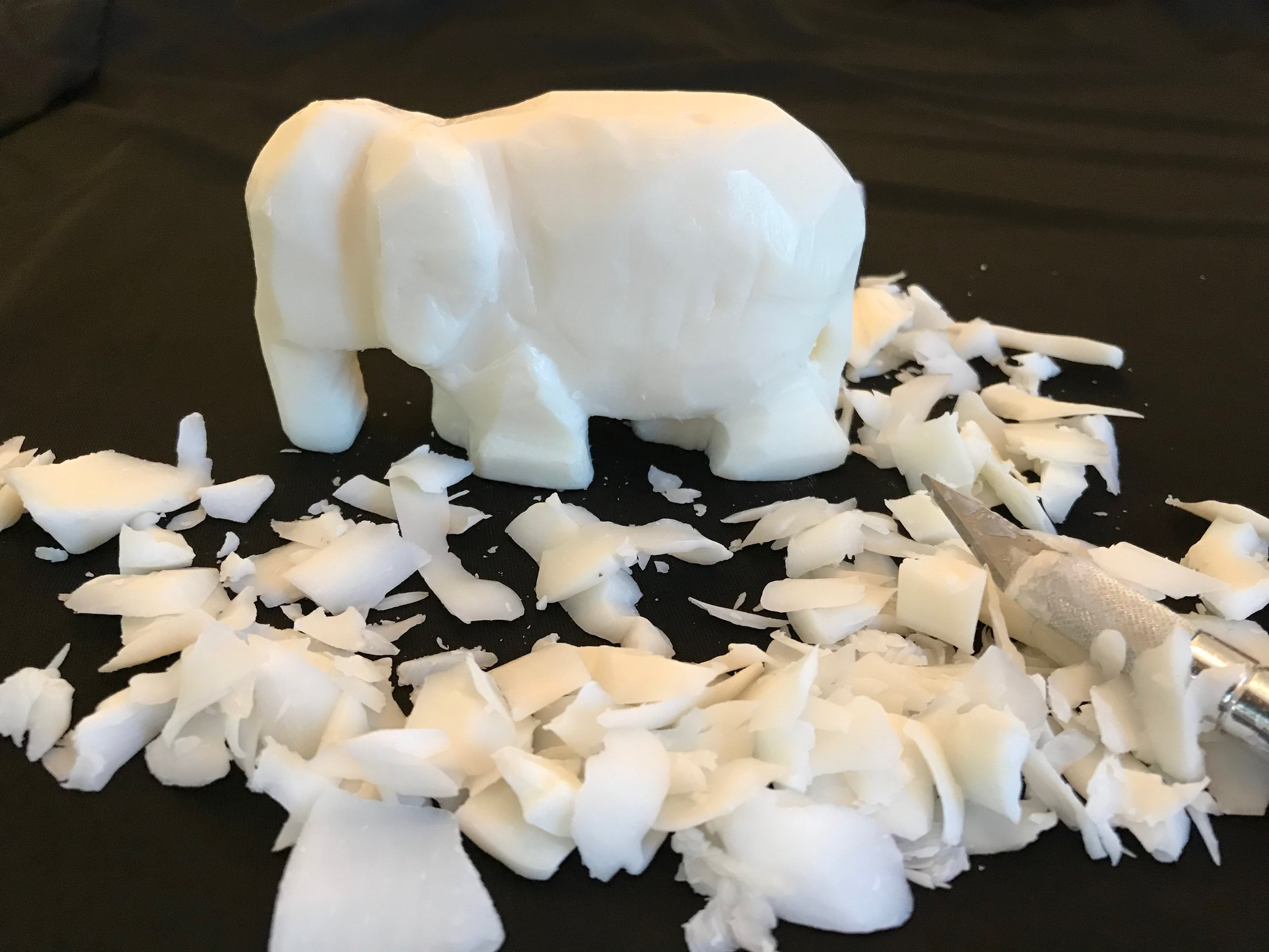 Day 341. I carved an Elephant out of Soap