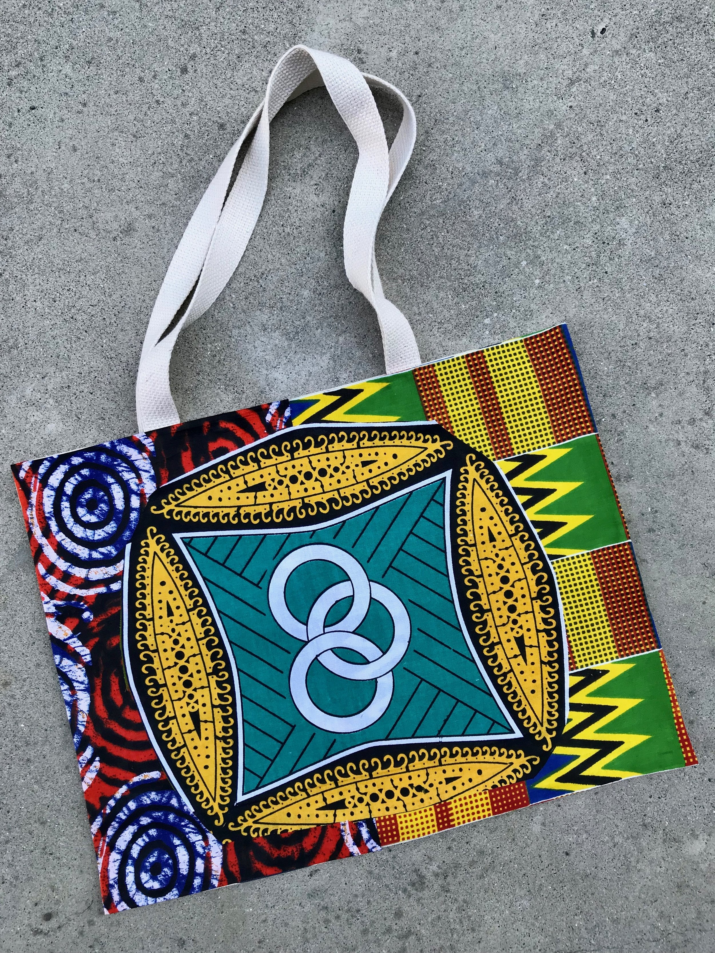 Day 343. Collaged African Prints Tote Bag