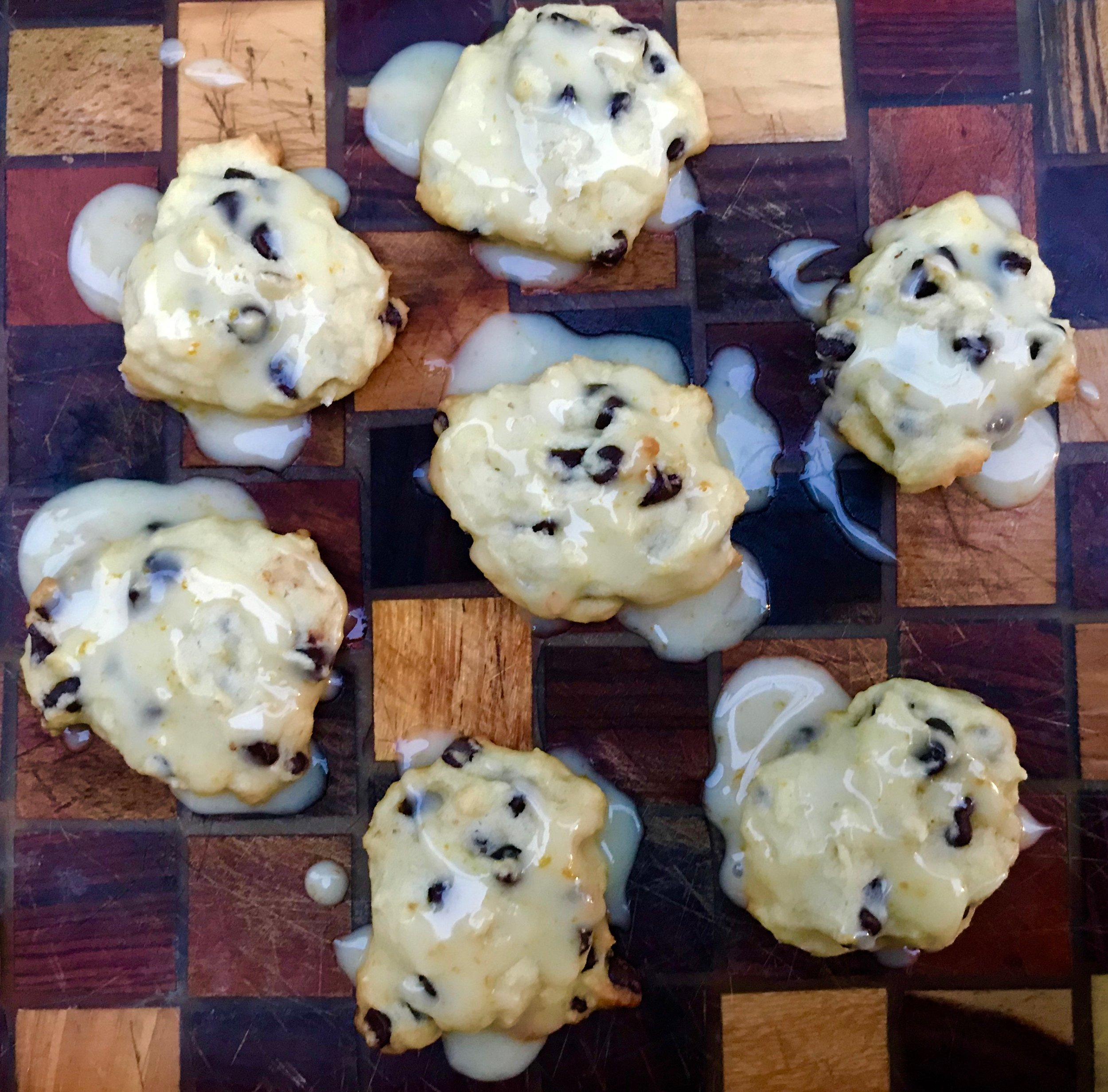 Day 354. Iced Italian Orange and Chocolate Chip Ricotta Cookies