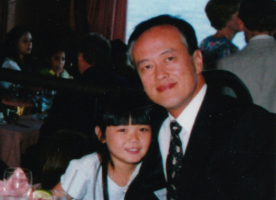 George Ting and daughter Esther, 1996