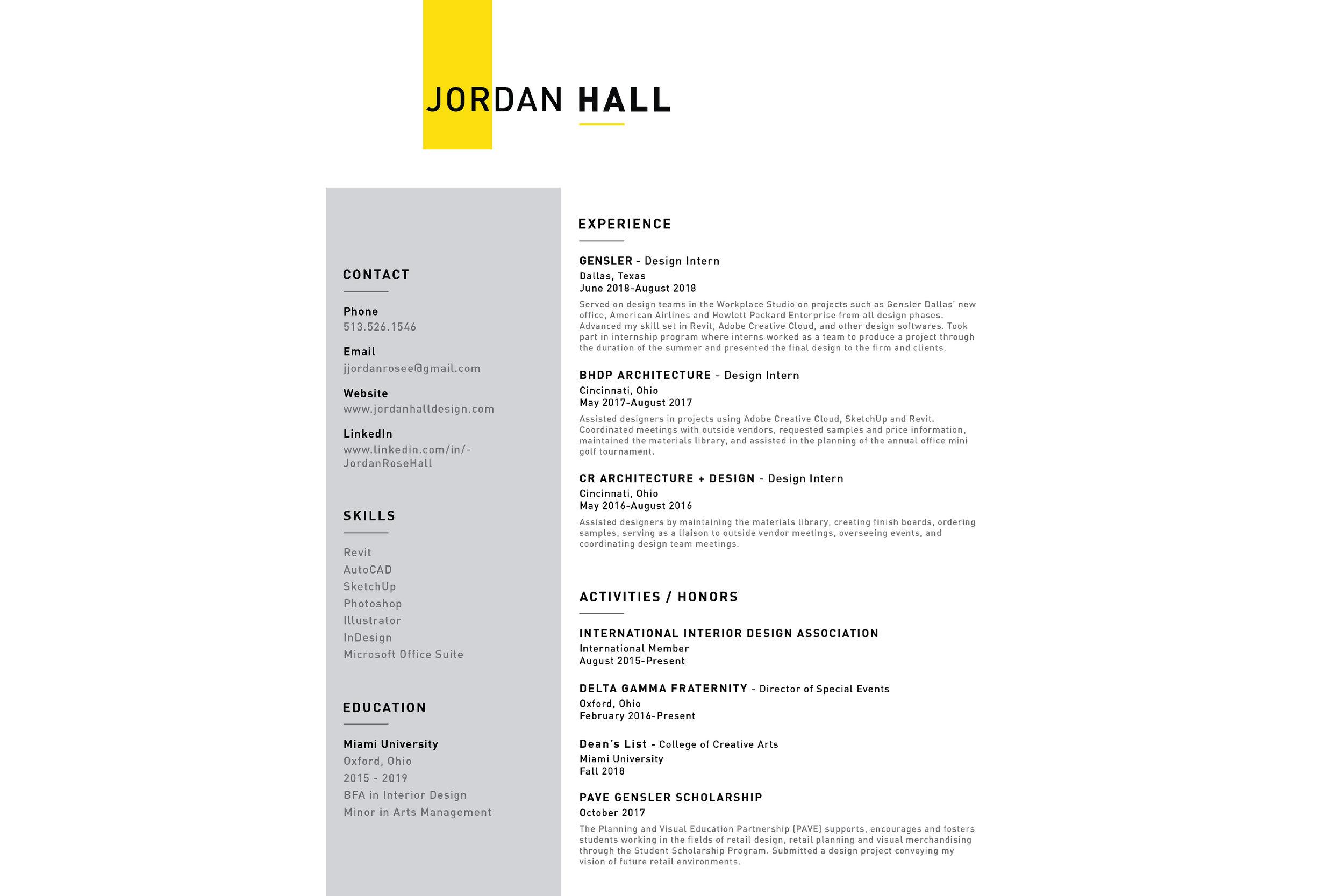 JordanHall_Resume