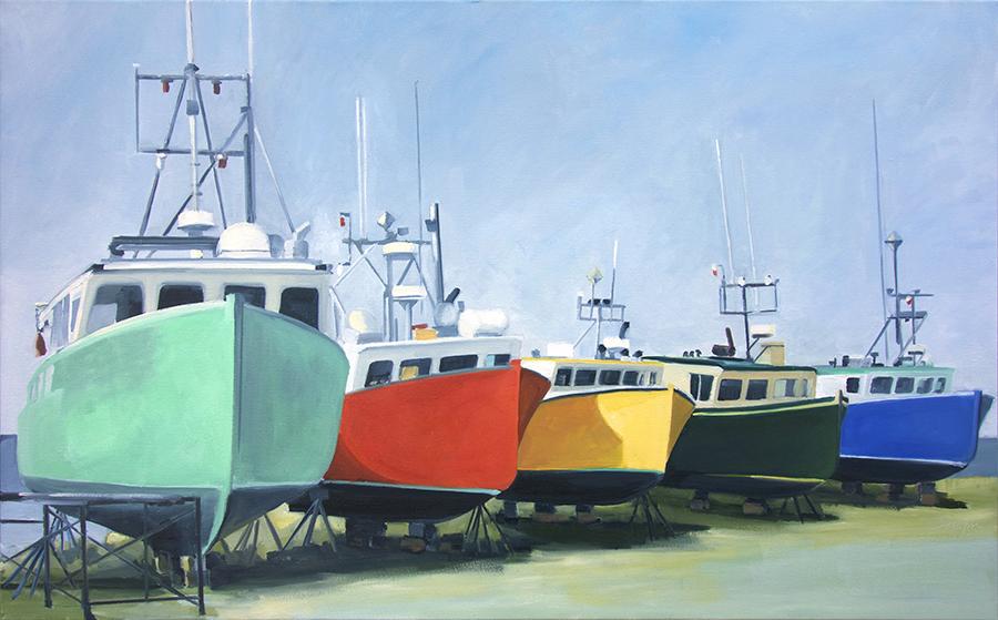 Five Painted Ladies