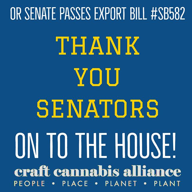 Thank you Senators, our #ONEFix partners at @oregonpotstores, and each and every one of you who is standing up to support Oregon families, our communities and your locally owned cannabis businesses! #SB582 advances to the the House. #ONEFix #ourcraftfuture #LicensedInterstateTransfer #GetLIT #momentum #onefixcannabis