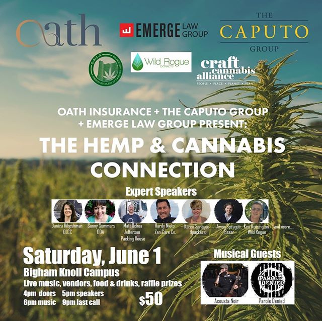 ⁣ ⁣Looking forward to this event on June 1! ⁣ ⁣⁣ ⁣🌱👨🏽‍🌾🌱👩🏻‍🌾🌱👨🏽‍🌾🌱👩🏻‍🌾🌱👨🏽‍🌾🌱👩🏻‍🌾🌱⁣ ⁣The Hemp-Cannabis-Connection brings together hemp and cannabis industry leaders and professionals for an invaluable networking and knowledge-sharing event. Admission includes presentations, Q&A with regulators, live music, sponsor booths, food and drink, raffles and more. ⁣ ⁣🌱👨🏽‍🌾🌱👩🏻‍🌾🌱👨🏽‍🌾🌱👩🏻‍🌾🌱👨🏽‍🌾🌱👩🏻‍🌾🌱⁣ ⁣ @derek_evans_morales