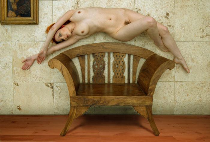 Surreal nude. Weymouth, UK (2007)