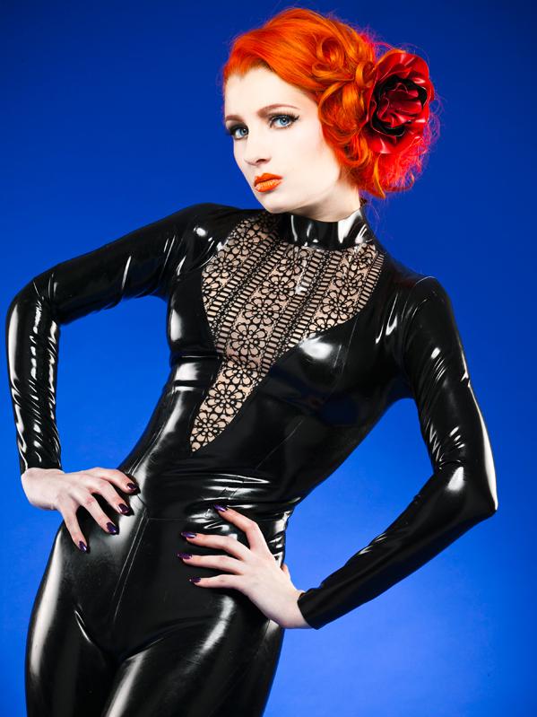 Cathouse Clothing Latex lace catsuit. Leeds, UK (2013)