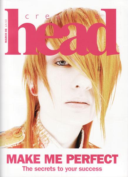 Creative Head magazine cover for TIGI