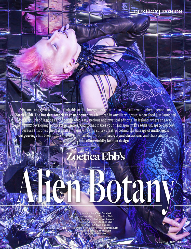 Zoetica Ebbs Alien botany collection