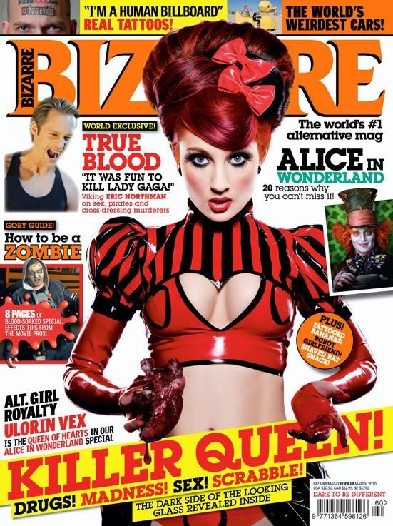 "Bizarre Magazine ""Alt Girl Royalty"" cover"