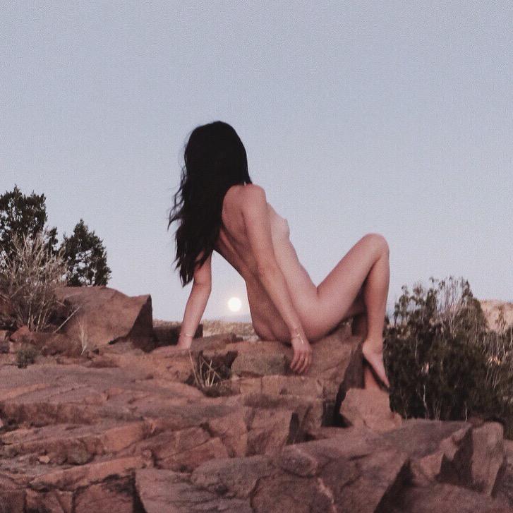 Stephanie Ortega - sitting with the moon - shot by holly rhoads