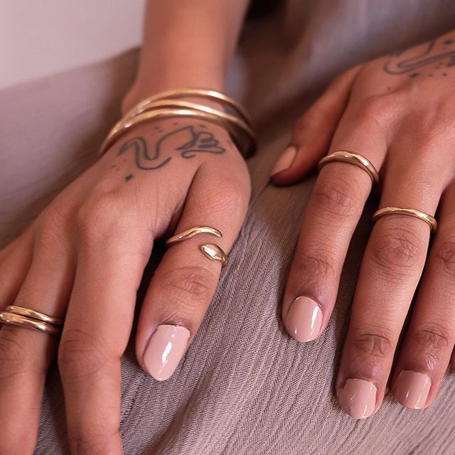 There's something about golden rings and bangles that just makes me feel like a queen ||•• #adoryourjourney .  Ethically made & Socially Responsible Jewelry • . Shop link in bio 🌹