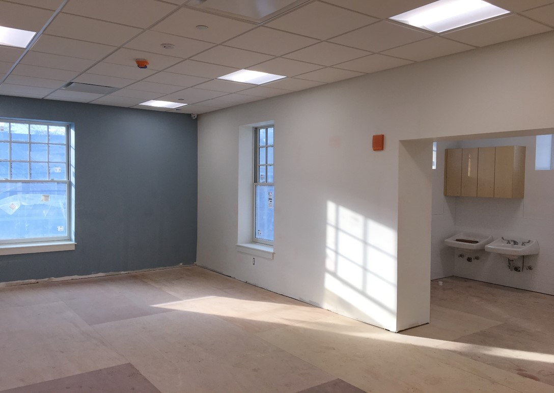 Second Floor Classroom- Extended Bathroom Area over Newly Created Elevator Vestibule Area