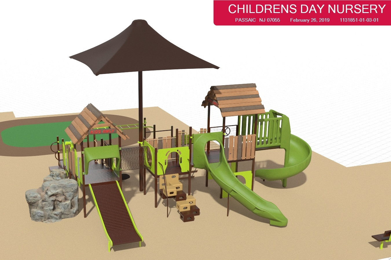 Just one of the play structures that are part of our overall playground design.