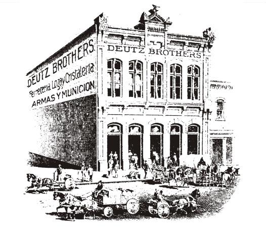 Deutz Brothers Hardware and Plumbing Store - Laredo, Texas 1890