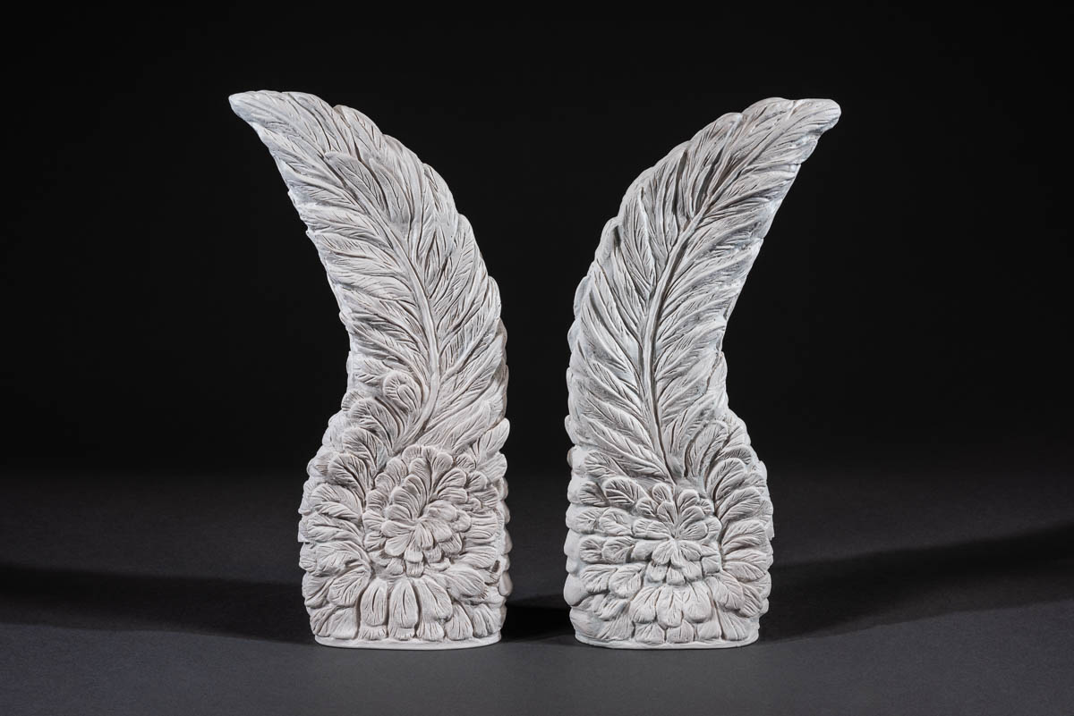 "Angel Wings - Angel wings symbolize the love, power, and grace of the benevolent celestial beings who guide and protect us on our earthly journey.Cast marble. Measures 13""ht x 5""wd.SEE PRICING"