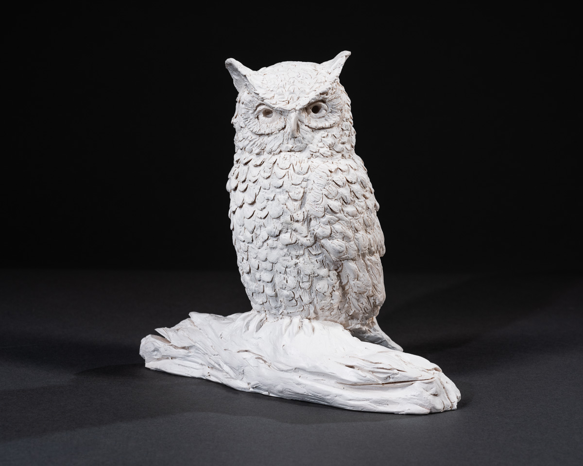 "Levi - Owls are mysterious, beautiful and often considered a symbol of wisdom. They are famous for their intense stare, and telltale call that children of all ages love to imitate. Levi was originally created for Laurie's newborn grandson.Cast marble. Measures 6.5""ht x 6.5"" wd.SEE PRICING"