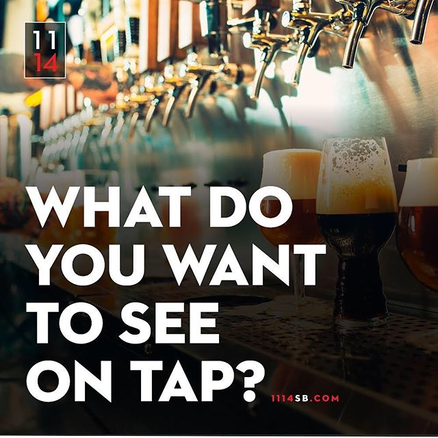 We would love your help selecting the best Local Craft Draft beers to have on tap at Eleven14!  We plan on having 16 different taps and if your suggested list has the most corresponding suggestions to the actual list that we open with on Sept 5th then we will give you a $500 gift card to use at Eleven14 Craft House and Kitchen.  Go to 1114sb.com and click Enter to Win to submit your ideas! 🍺  #eleven14 #1114sb #1114 #crafthouse #santabarbaradining #santabarbaranightlife #santabarbaraeatery #localcraftdraft #beercontest #entertowin #downtownsantabarbara #santabarbarabeer #santabarbara #santabarbarastyle