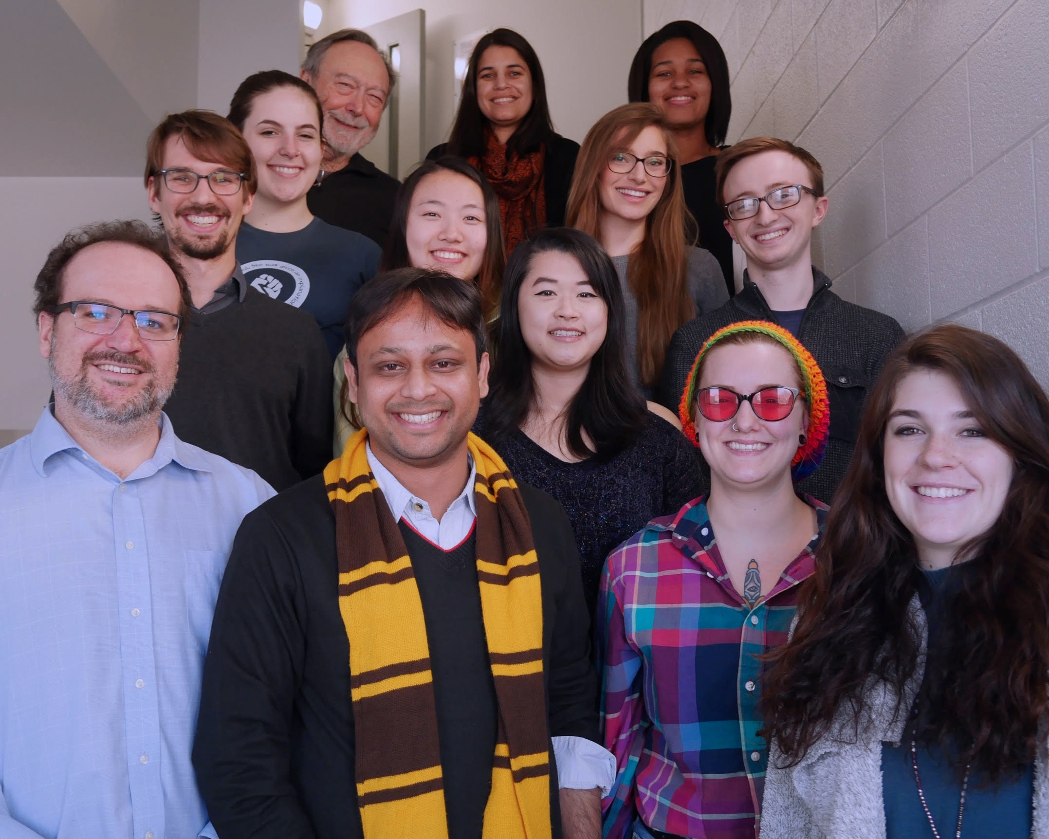 people - Our team is made up of a diverse group of researchers and students, each bringing their own unique skill set and perspective into our research.