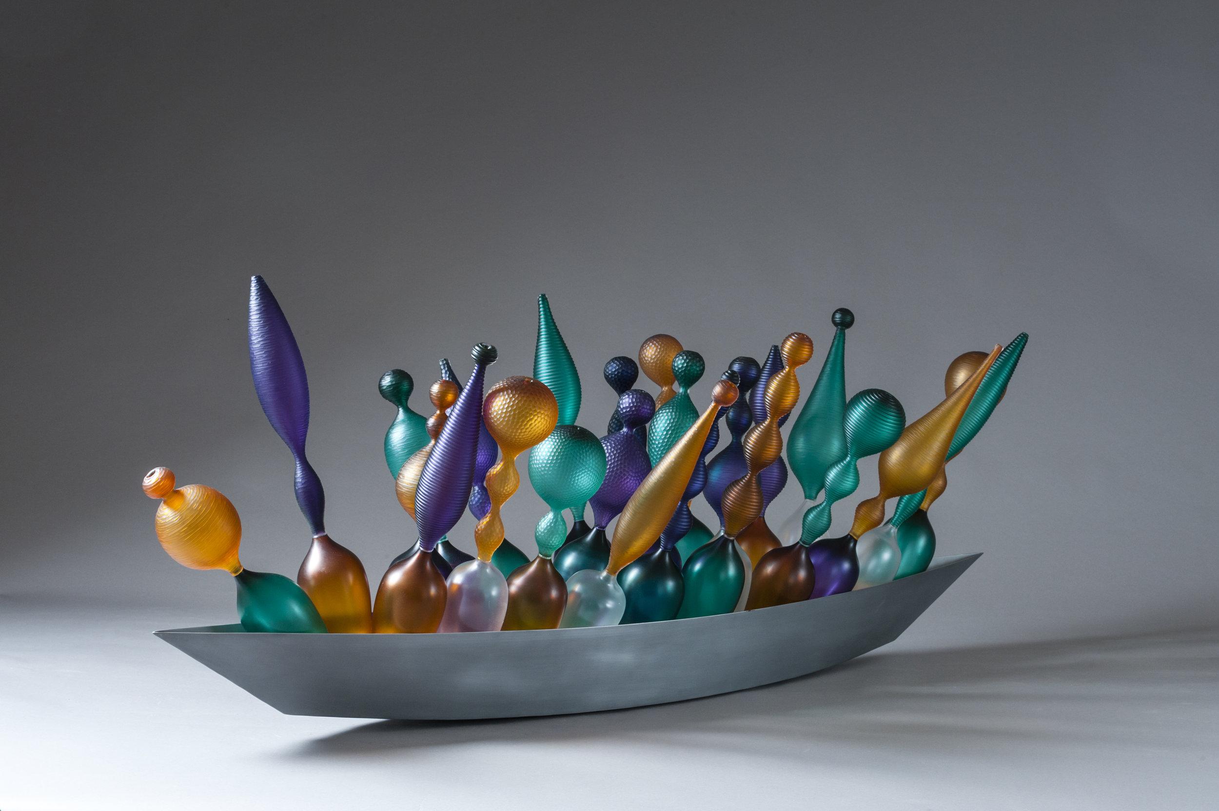 boats, Philip Baldwin, Monica Guggisberg, Glass, Sculpture, metal, contemporary