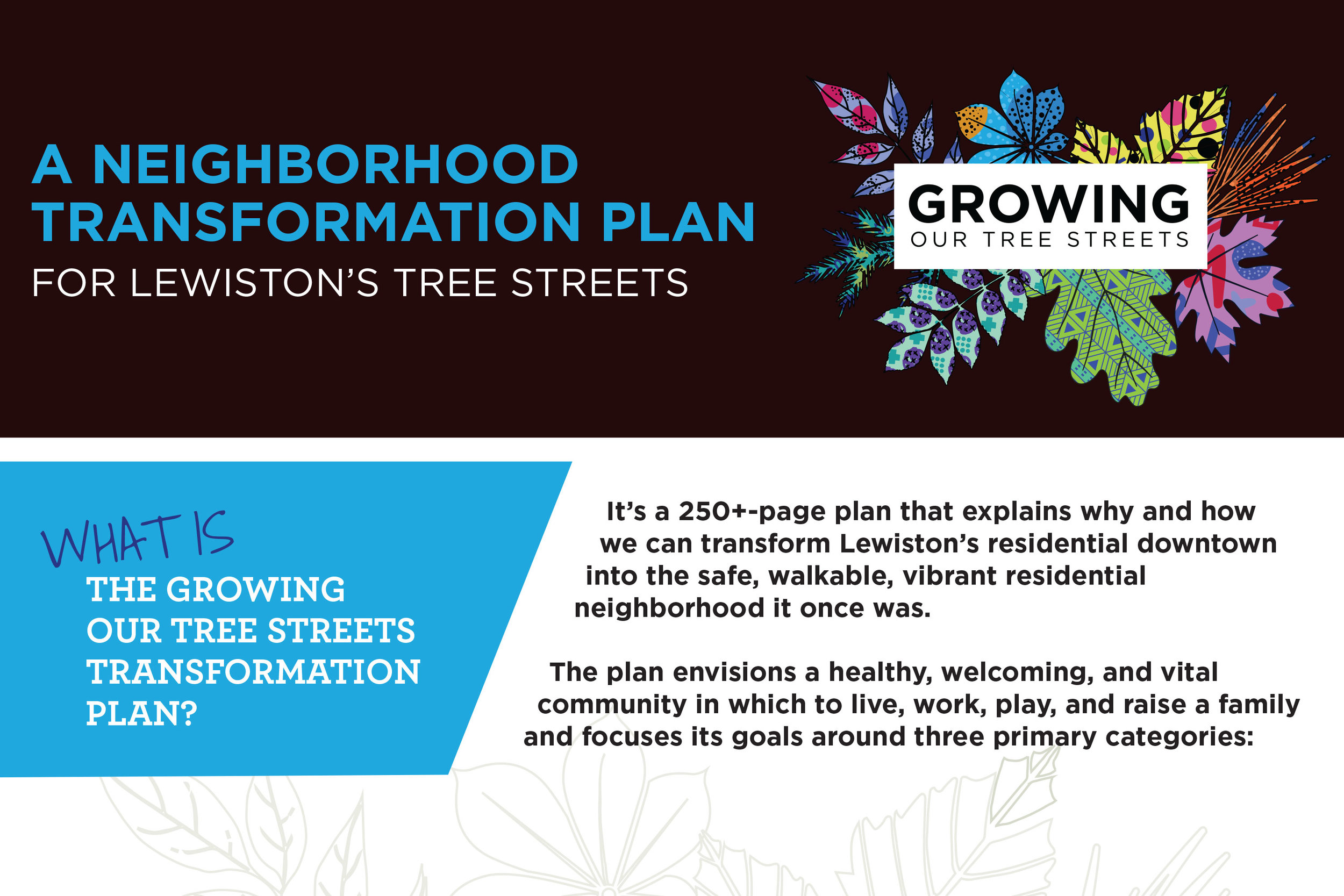 Download the Flyer     A great tool to learn and share more about the Neighborhood Transformation Plan!