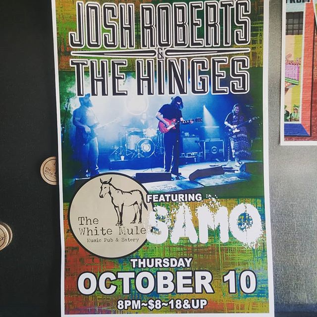 Josh Roberts and the Hinges tonight featuring Samo