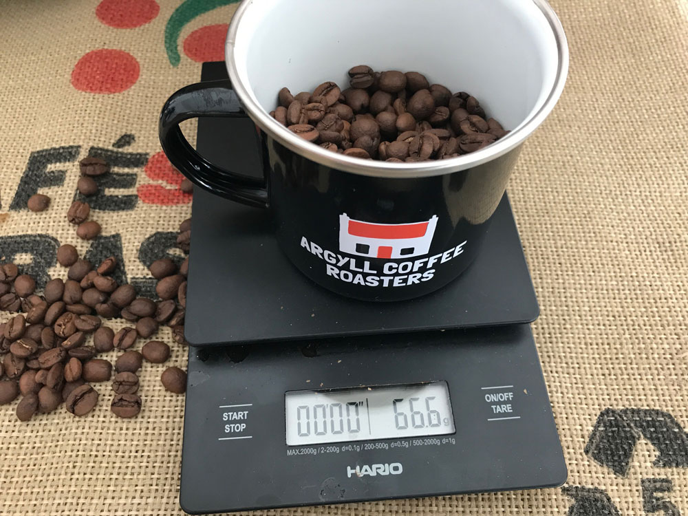 Getting the correct ratio of ground coffee to water is key.