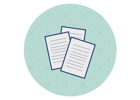 Icon with pages of a contract