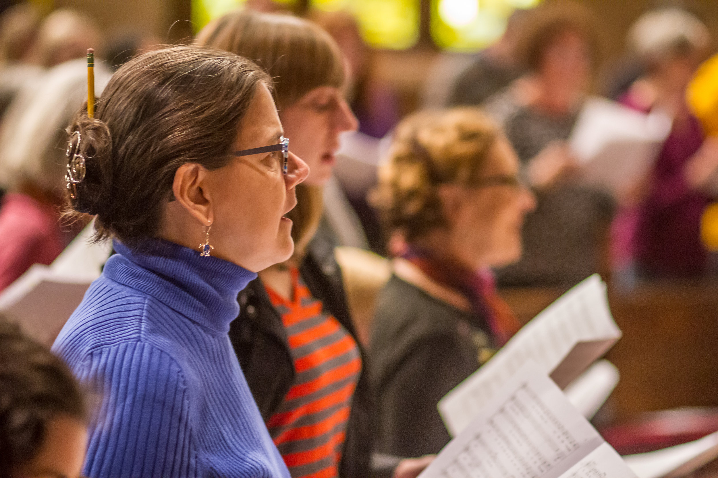 """""""PDX Vox has been a creative lifeline for me. I deeply appreciate the expert guidance of the music director and instructors as well as the welcoming community of singers of all levels."""" - — Karen N., Monday NE and Wednesday Groups"""