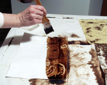 Walnut ink with bleach photo 2.
