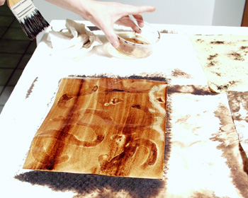 Walnut ink with bleach photo 3.