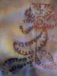 Metal mesh printed on by textile block 1.