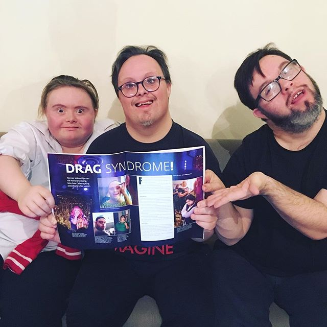 Media storm! #dragsyndrome #drag #downsyndrome #queen #king