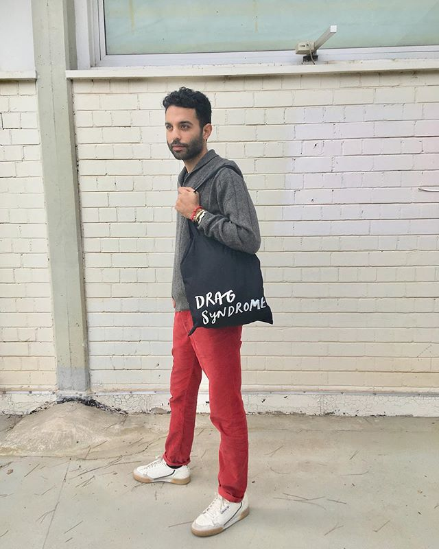 Handsome man with handsome tote bag. #dragsyndrome