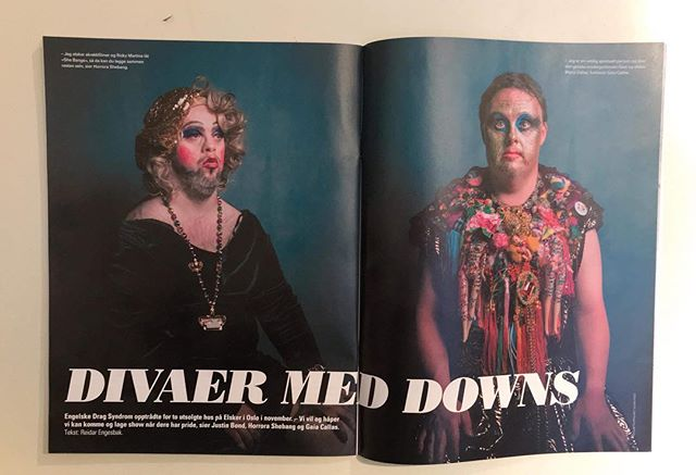 Thank you @magasinet_blikk #dragsyndrome #Oslo #drag #downsyndrome #queen #norway #blikk