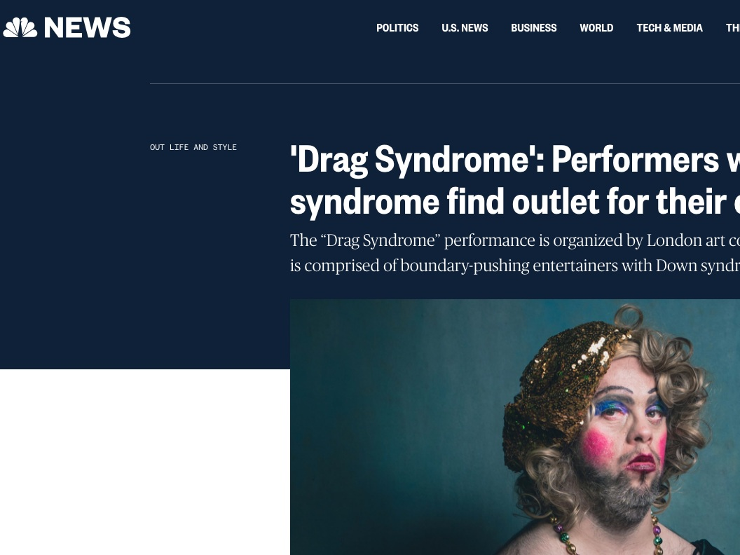 NBC News  'Drag Syndrome': Performers with Down syndrome find outlet for their creativity  >>>
