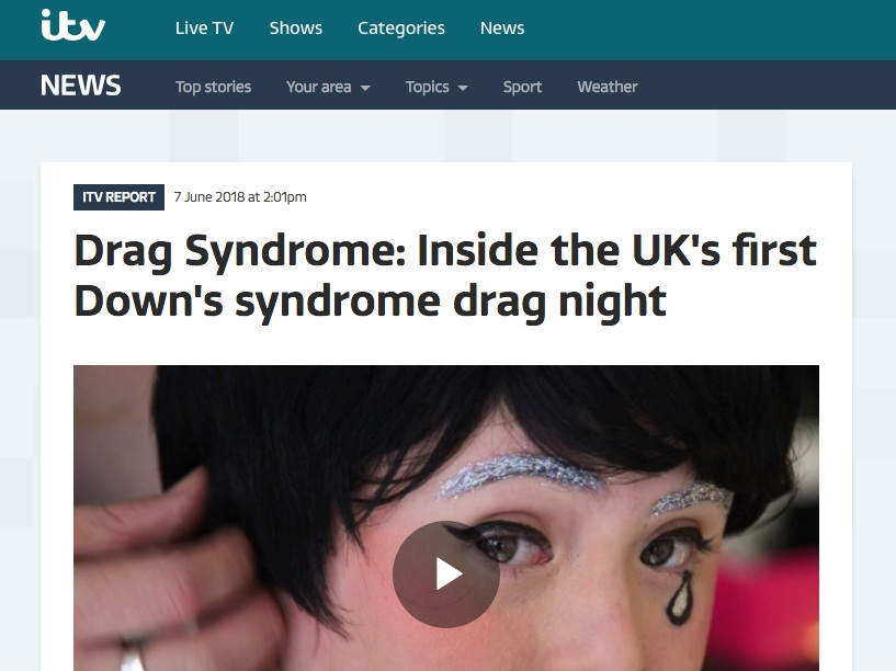 ITV Report  Drag Syndrome: Inside the UK's first Down's syndrome drag night  >>>