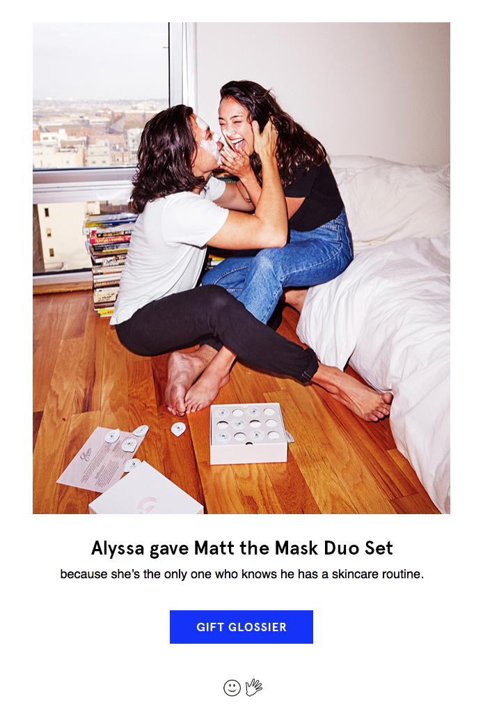 Glossier marketing email.